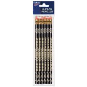 American Logo Products Purdue Boilermakers Pencils, 6-Pack