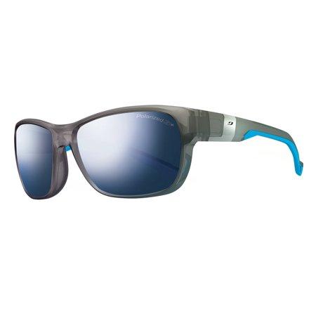 21c75d00f5 Julbo - Julbo Coast - Transparent Grey   Blue With Polarized 3+ Mlayer Blue  Lenses Coast Sunglasses - Walmart.com
