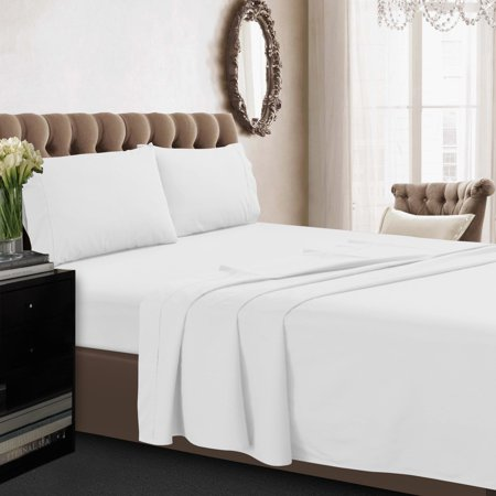 Tribeca Living 350tc Egyptian Cotton Percale 4 Piece Sheet Set
