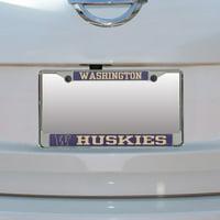 Washington Huskies Small Over Large Mega License Plate Frame