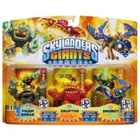 Skylanders Lightcore Prism Break, Eruptor & Drobot Figure 3-Pack