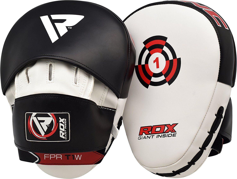 RDX Boxing Hook & Jab Pads MMA Target Focus Punching Mitts Thai Strike Kick Shield by RDX