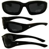 011320b3dae Product Image Birdz Eyewear Oriole Padded Motorcycle Glasses (Black  Frame Smoke Lens)