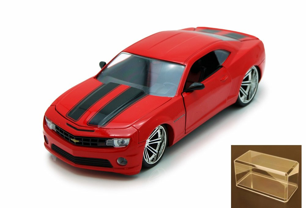 Diecast Car & Accessory Package Chevy Camaro SS, Red Black Jada Toys Bigtime Muscle 92121... by Jada