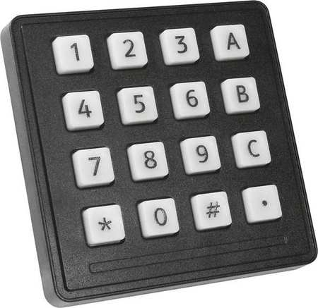 Industrial White Keypad, Storm Interface, 720 TFX 16 KEY