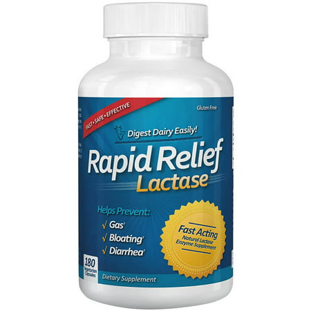 Newton Everett Biotech Rapid Relief Lactase Dietary Supplement  180 Count