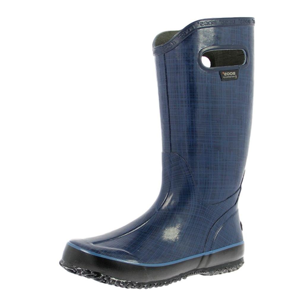 """Bogs Boots Womens 12"""" Rain boots Linen Waterproof Rubber 71434 by Bogs"""