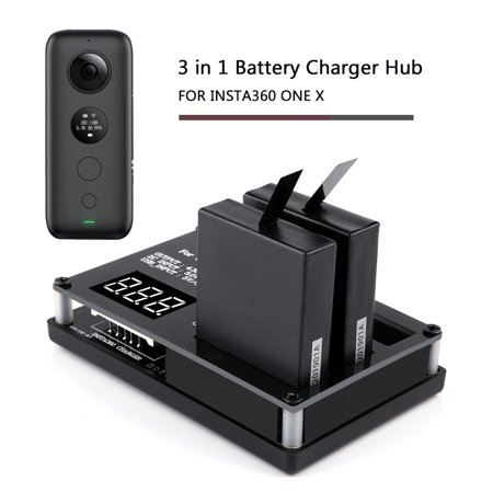 Battery Hub 3 in 1 for One X Seflie Camera Intelligent Charging 60mins Full Charge 3 Battery - image 2 de 3