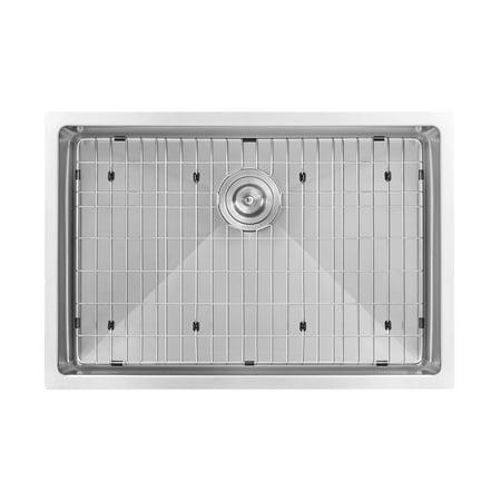 Tight Radius (Ruvati 28-inch Undermount 16 Gauge Tight Radius Stainless Steel Kitchen Sink Single Bowl - RVH7250)