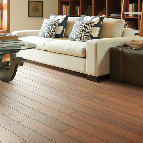 Shaw Floors Riverdale 5'' x 48'' x 12mm Hickory Laminate in Tellico