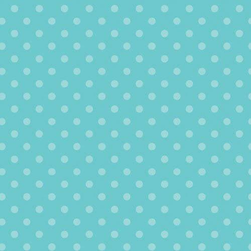 Emma & Mila Hoot Hoot Collection Cotton Polka Dots in Blue Fabric, per Yard
