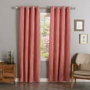 Best Home Fashion, Inc. Herringbone Striped Semi-Sheer Grommet Curtain Panels (Set of 2)
