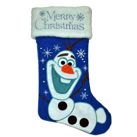 Purple Disney Frozen Olaf Snowflake Christmas Stocking Holiday Decor - Disney Christmas Stockings