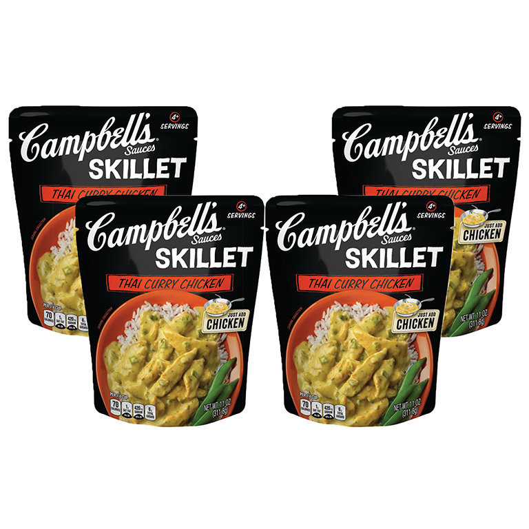 Campbell's Skillet Sauces Thai Curry Chicken, 11 oz (4 Packs)