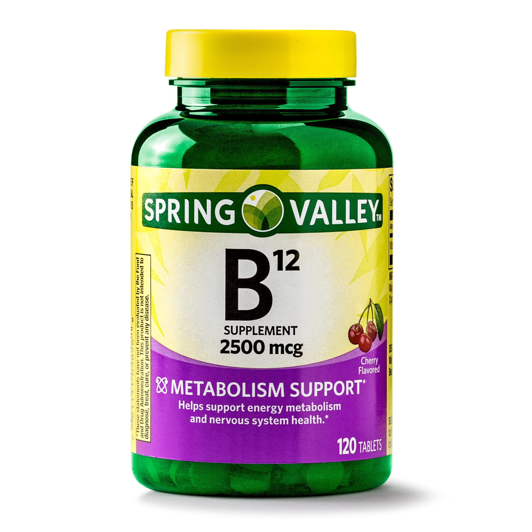 Spring Valley Vitamin B12 Tablets, 2500 mcg, 120 Ct