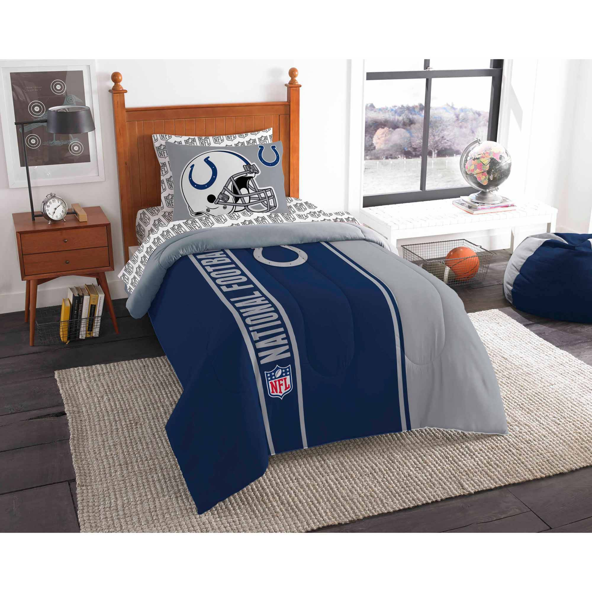 NFL Indianapolis Colts Soft and Cozy Bed in a Bag Complete Bedding Set