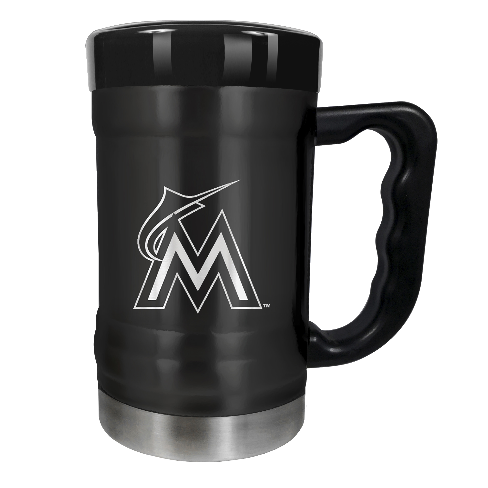 Miami Marlins 15oz. Stealth Coach Coffee Mug - Black - No Size