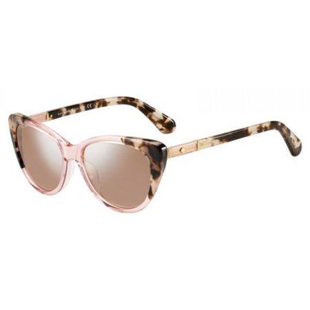Kate Spade Women's Sherylyn/s Cateye Sunglasses, Pink Havana Pink/Pink Flash Silver, 54 mm