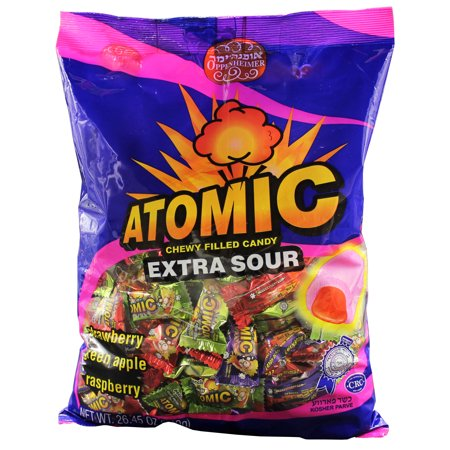 Atomic Extra Sour Chewy Cream Filled Kosher Candy - Large Fillet