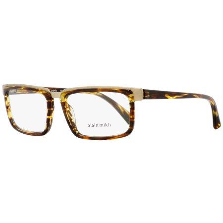 Alain Mikli Rectangular Eyeglasses A02016 001 Brown/Amber/Gold 54mm (Most Stylish Eyeglasses 2016)