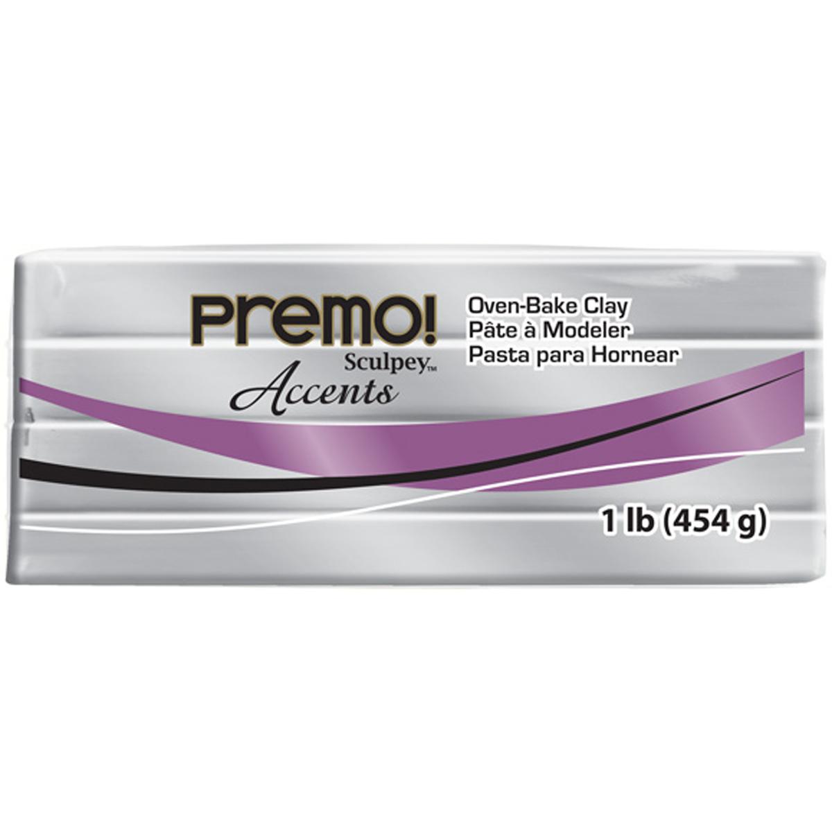 Premo Sculpey Accents Polymer Clay 1lb-Silver