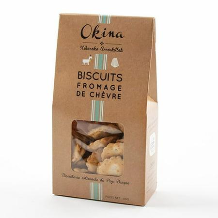Artisanal Savory Cheese Biscuits by Okina - Chevre (80 gram) ()