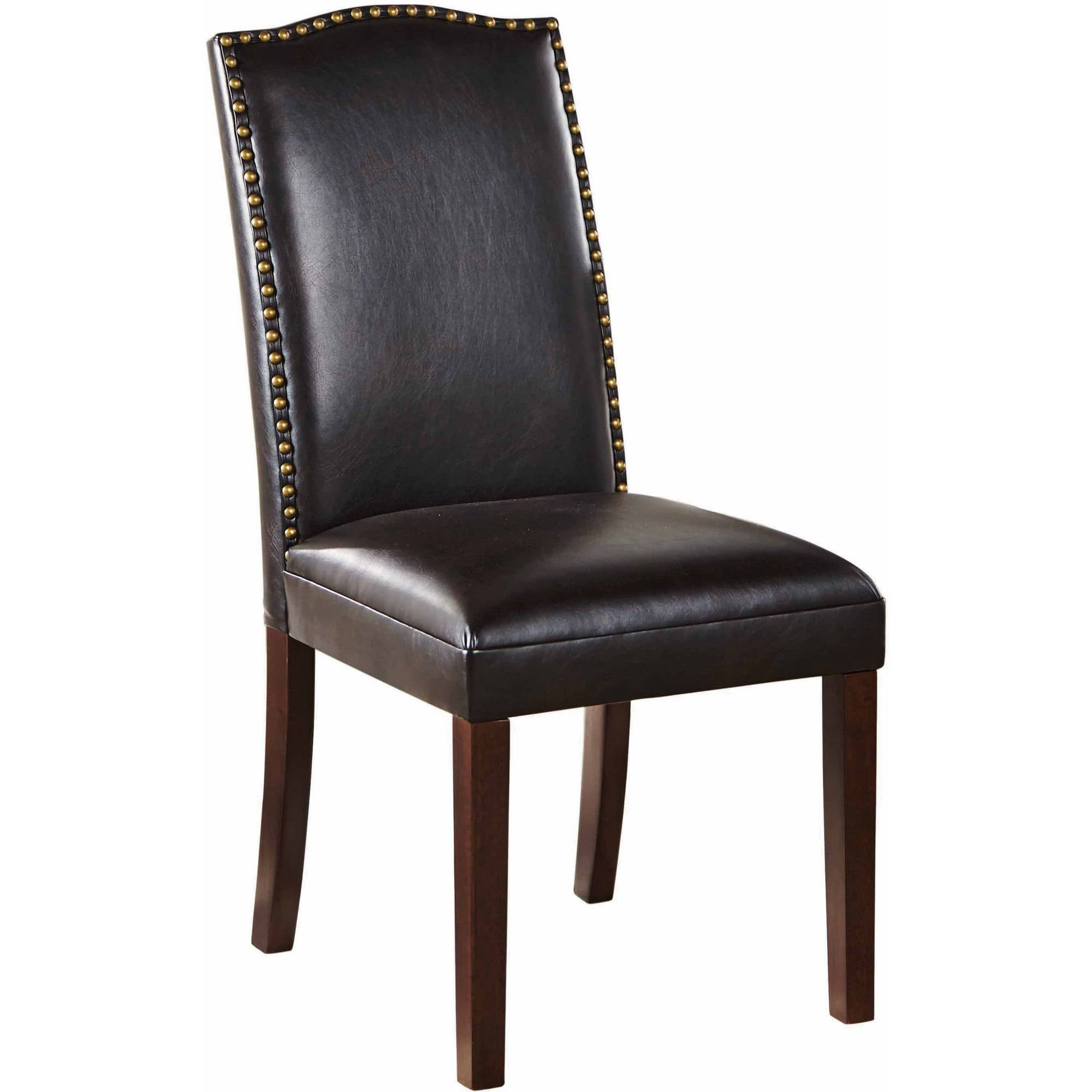 Faux Leather Accent Chair With Nailbead: Better Homes And Gardens Faux Leather Accent Chair With