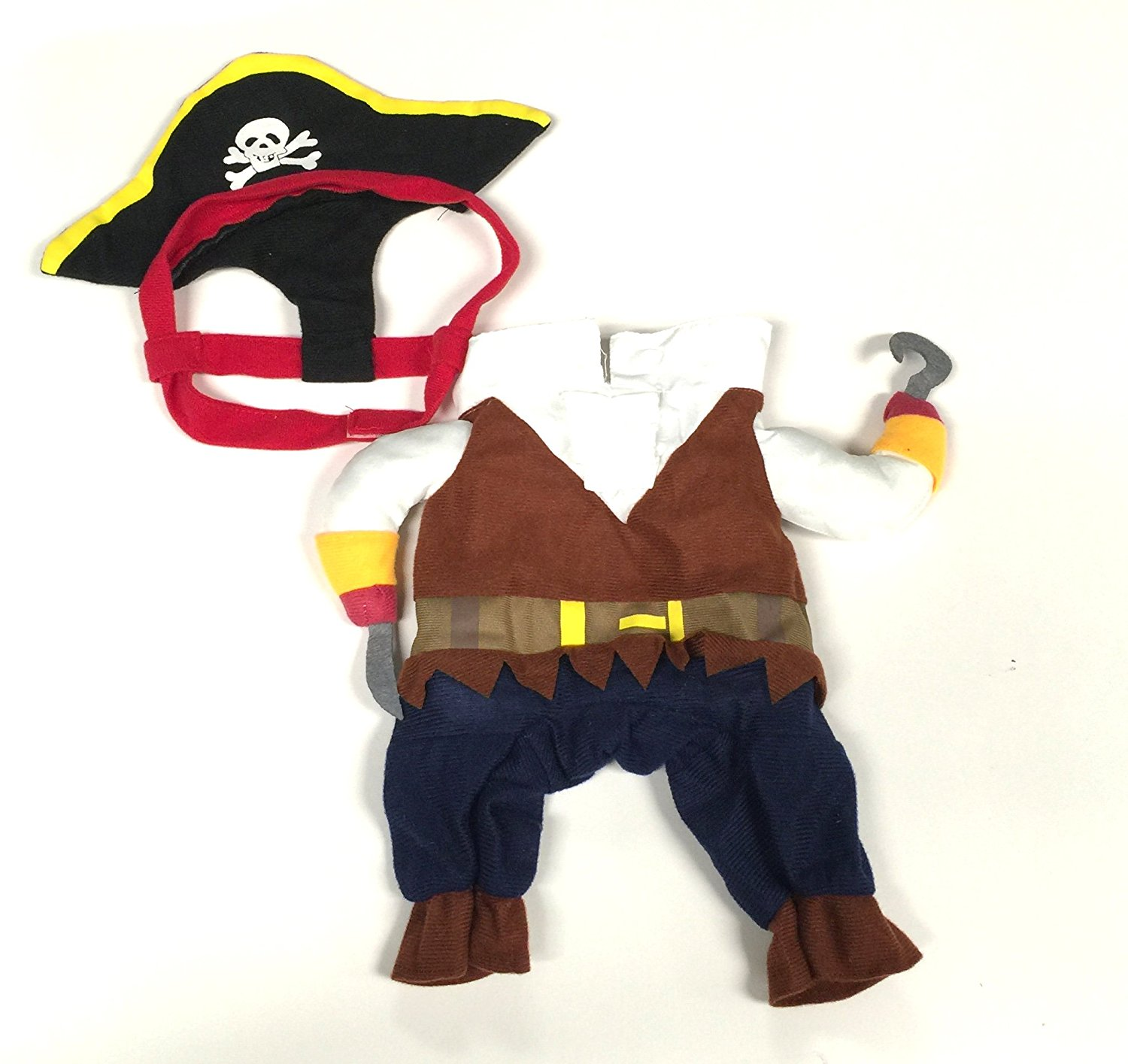 Midlee Pirate Fake Arms Costume for Small Dogs (X-Small)