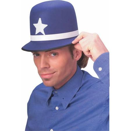 Adult Keystone Cop Hat Rubies 49268, One Size - English Bobby Halloween Costume