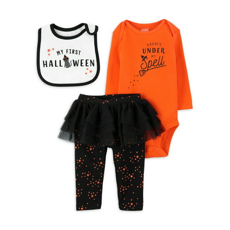 Child of Mine by Carter's Baby Girl Halloween Outfit Set, 3-Piece Set (NB-12M)