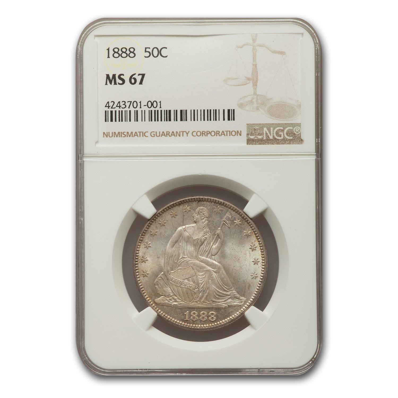 1888 Liberty Seated Half Dollar MS-67 NGC