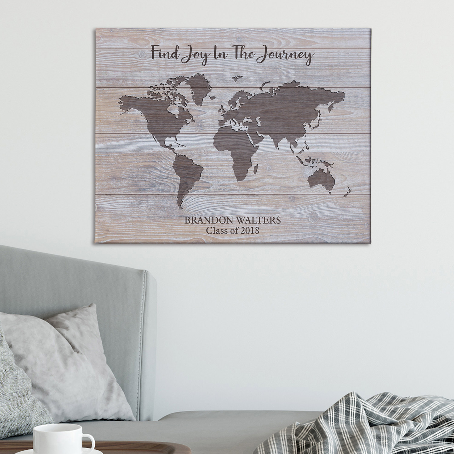 Personalized Find Joy In The Journey Canvas - Available in 3 Sizes