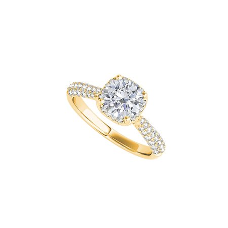 April Birthstone Round Cubic Zirconia 14K Yellow Gold - image 7 of 7