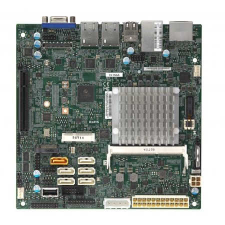 Supermicro Motherboard MBD-X11SAA-O mini-ATX with Intel Processor N4200 (Pentium Apollo Lake, 4-Core) Socket FCBGA1296