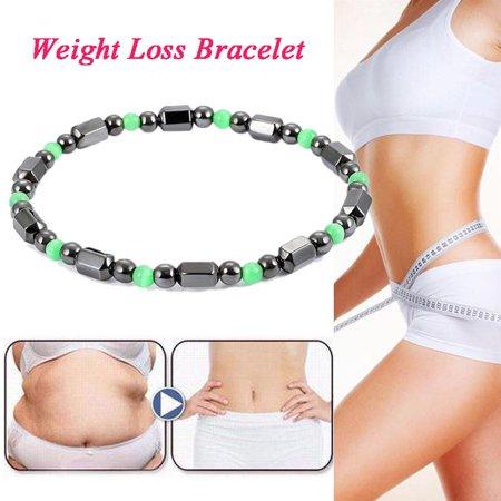 Tbest Women Men Magnetic Therapy Hematite Bracelet Weight Loss Bangle Jewelry Black Green, Hematite Bangle, Magnetic Hematite Bracelet ()