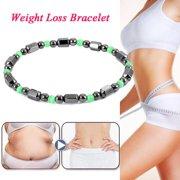 Tbest Women Men Magnetic Therapy Hemae Bracelet Weight Loss Bangle Jewelry Black Green