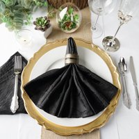"""Efavormart Pack of 5 Premium 20"""" x 20"""" Washable Taffeta Crinkle Napkins Great for Wedding Party Restaurant Dinner Parties"""