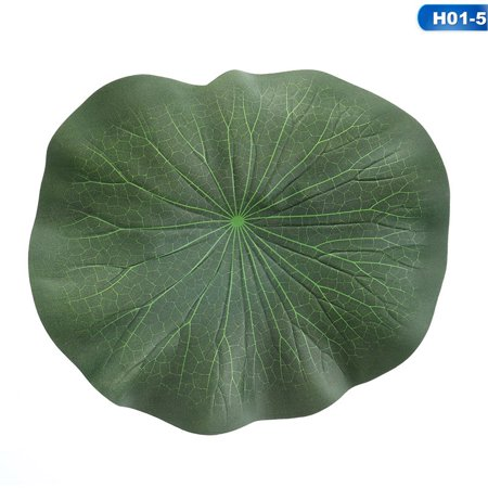 Water Lily Leaf - KABOER 2X Artificial EVA Fake Leaf Flowers Water Lily Floating Pool Plants Fresh