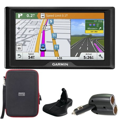 Garmin Drive 60LMT GPS Navigator (US and Canada Maps) Car Charger Case Kit
