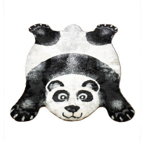 Walk On Me Panda Black Outdoor Area Rug