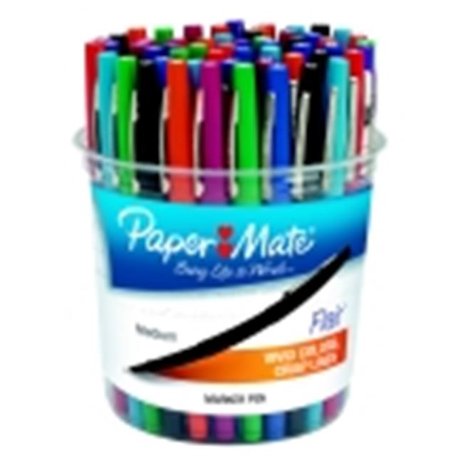 Papermate Flair Acid-Free Fast Dry Non-Toxic Point Guard Pen Set, Felt Medium Tip, Set - 48