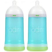 Adiri NxGen Stage 2 Nurser Medium Flow Baby Bottle, Blue, 6-9 Month (2 Pack)