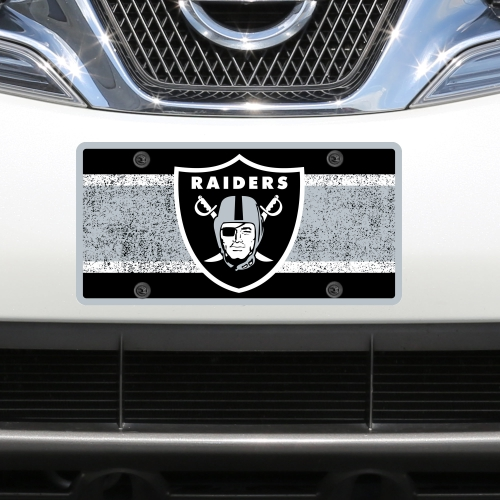 Oakland Raiders Vintage Acrylic Cut License Plate - No Size