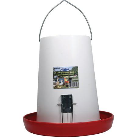 Millside Industries-Farm-tuff Hanging Plastic Feeder- Plastic 25 Pound Cap (Case of 2 )