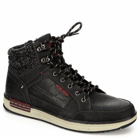 Day Five Mens Lace Up Mid Cut Sneaker Boot Shoes ()