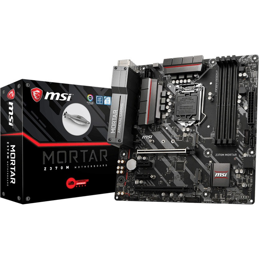 MSI Z370M MORTAR Desktop Motherboard Intel Chipset Socket H4 LGA-1151 by MSI