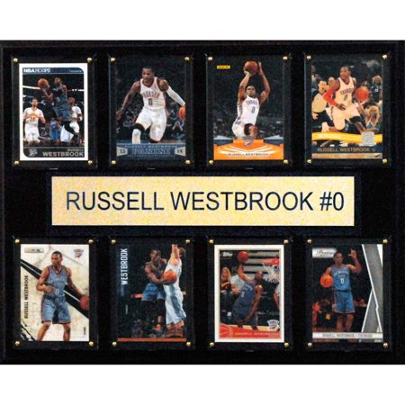 C Collectables Nba 12X15 Russell Westbrook Oklahoma City Thunder 8 Card Plaque