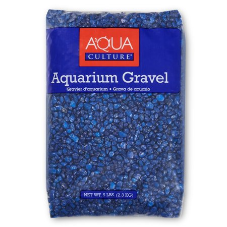 Gravel 5 Lb Pack - (2 Pack) Aqua Culture Dark Blue Aquarium Gravel, 5 lb