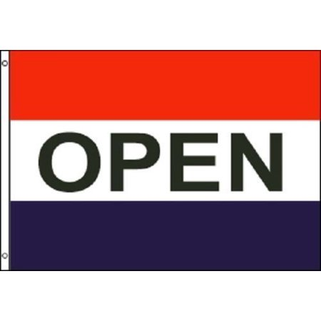G128 - OPEN Flag Red White Blue Store Banner Advertising Pennant Business Sign 3x5 - Open Soon Banner