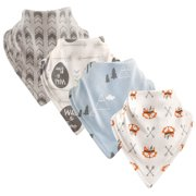 Luvable Friends Basics Baby Unisex Bandana Bibs, 4-Pack